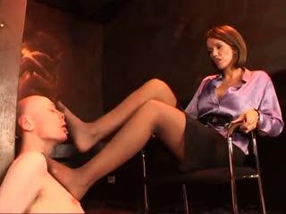 Pressing Her Beautiful Feet All Over Him (done)